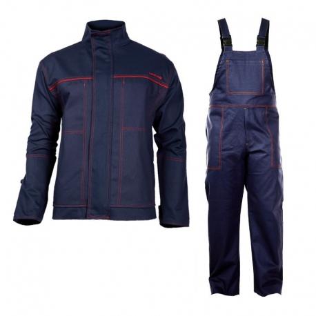 Ubranie spawalnicze wzmocnione komplet bluza ogrodniczki Lahti Pro L41405