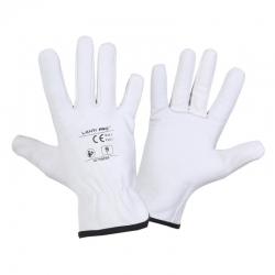 Protective gloves goat skin white Lahti Pro L2710