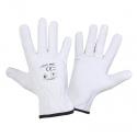 Rękawice ochronne skóra kozia białe Lahti Pro L2710