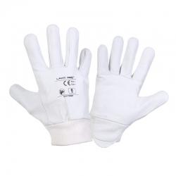 Rękawice ochronne skóra kozia białe Lahti Pro L2711
