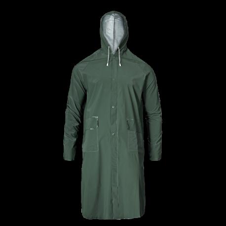 Płaszcz przeciwdeszczowy kaptur zielony wodoodporny PVC LahtiPro LPPP1