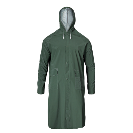 Raincoat with the hood of a green green PVC Lahti Pro