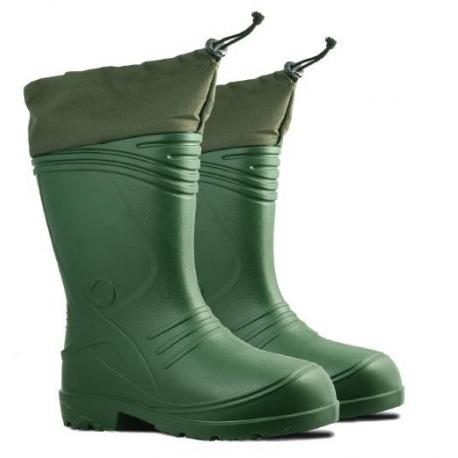 Kalosze męskie z kołnierzem i ociepliną zielone Profix K15361