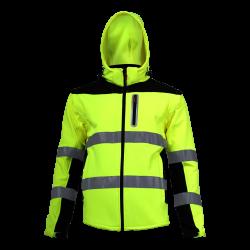 Kurtka softshell ostrzegawcza z odpinanymi rękawami żółta Lahti Pro L40919