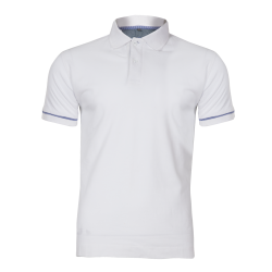 Polo shirt white cotton Lahti Pro L40308