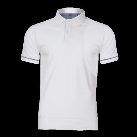 Polo shirt white cotton Lahti Pro L40308
