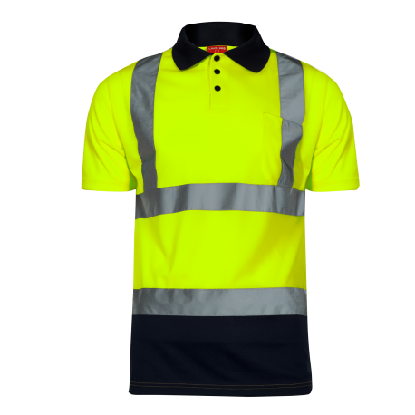 Hight visibility polo shirts yellow LahtiPro L40302