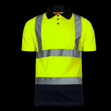 Koszulka polo ostrzegawcza żółta LahtiPro L40302