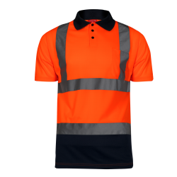 Hight visibility polo shirts orange LahtiPro L40301