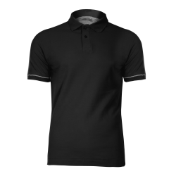 Polo shirt black cotton LahtiPro L40303
