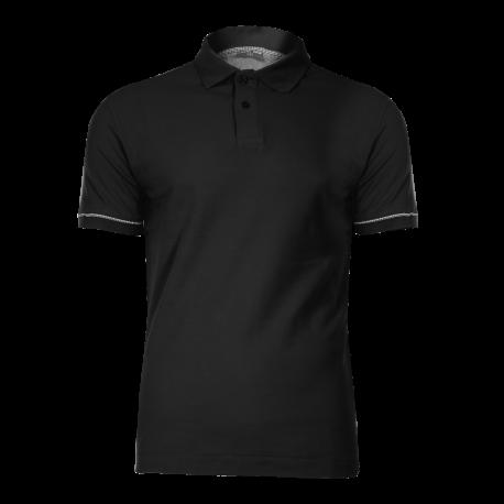 Koszulka polo czarna bawełna LahtiPro L40303 przód