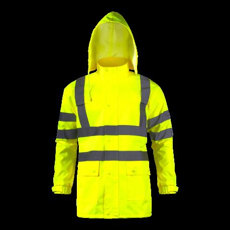 Kurtka przeciwdeszczowa ostrzegawcza żółta Lahti Pro L40913