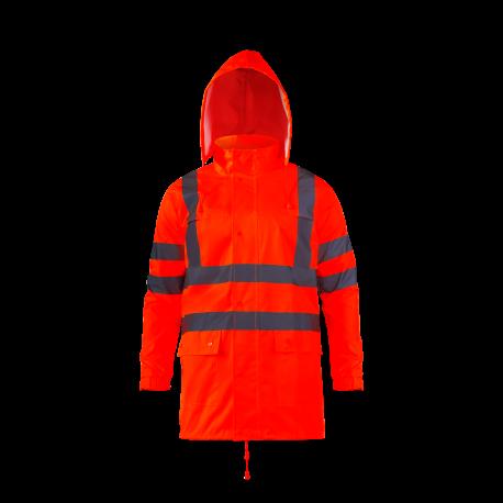 Kurtka przeciwdeszczowa ostrzegawcza pomarańczowa Lahti Pro L40914