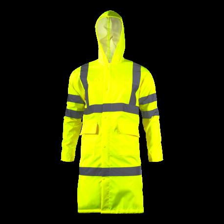 Płaszcz przeciwdeszczowy ostrzegawczy żółty Lahti Pro L41701