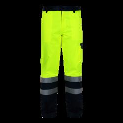 Spodnie ostrzegawcze do pasa żółte LahtiPro L41004