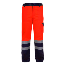 Spodnie ostrzegawcze do pasa pomarańczowe LahtiPro L41003
