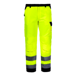 Hight visibility trousers yellow premium LahtiPro L41006