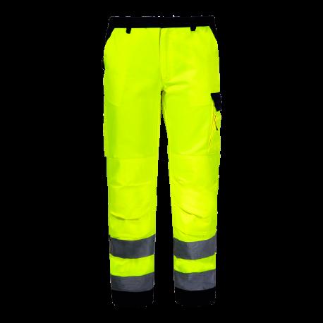 Spodnie ostrzegawcze do pasa żółte premium LahtiPro L41006