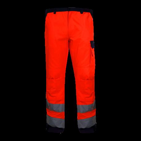 Hight visibility trousers orange premium LahtiPro L41005