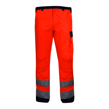 Spodnie odblaskowe do pasa pomarańcz EN ISO 20471 LahtiPro L41005 przód