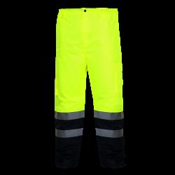 Zimowe spodnie ostrzegawcze żółte EN ISO 20471 LahtiPro L41002 przód