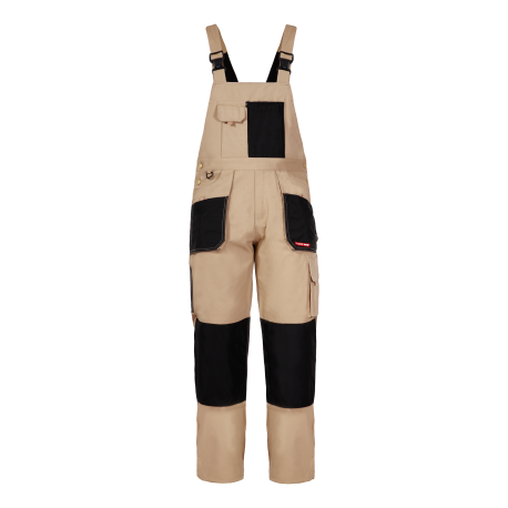 Work Dungarees durable protective beige Lahti Pro L40601