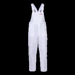 QUEST Spodnie robocze ogrodniczki białe mocne Lahti Pro LPQD