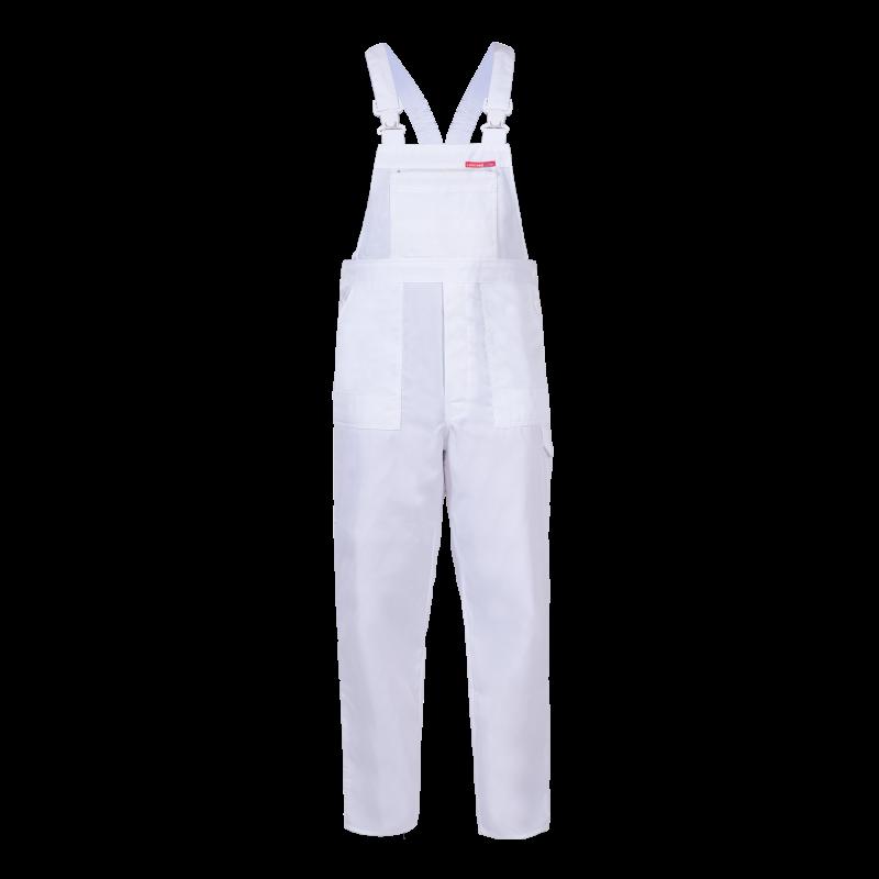 9552f8b2798fe8 QUEST Spodnie robocze ogrodniczki białe mocne Lahti Pro LPQD. Loading zoom