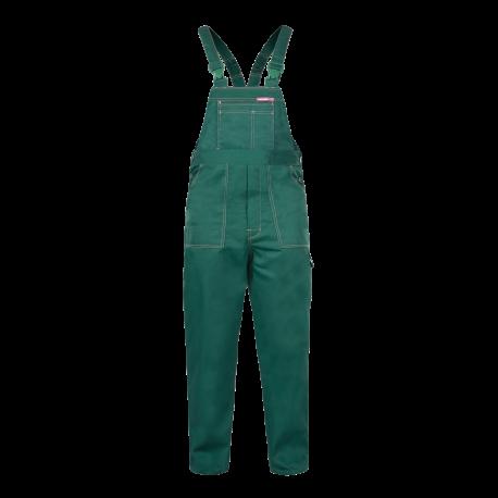 QUEST Spodnie robocze ogrodniczki zielone mocne Lahti Pro LPQB