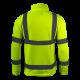 Bluza polar ostrzegawcza żółta LahtiPro L40109 tył plecy tył