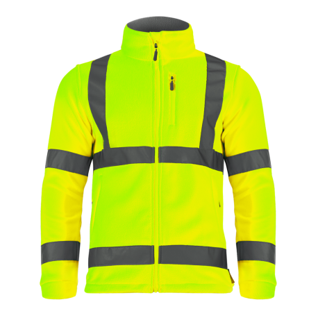 Fleece warning yellow Lahti Pro L40109
