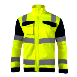 Hight visibility jackets premium yellow LahtiPro L40912