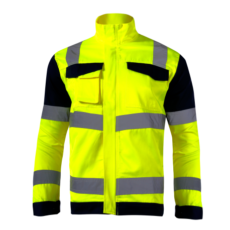 Kurtka odblaskowa żółta premium EN ISO 20471 LahtiPro L40912 przód