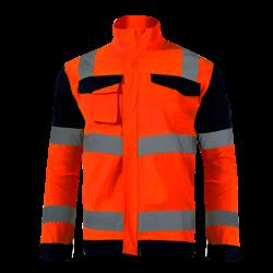 Kurtka ostrzegawcza pomarańcz EN ISO 20471 LahtiPro L40911 przód