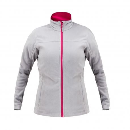 Bluza polarowa damska szara różowa LahtiPro L40106