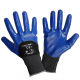 Protective gloves coated with blue nitrile Lahi Pro L2211