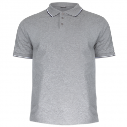 Polo shirt men grey 190g cotton Lahti Pro L40311
