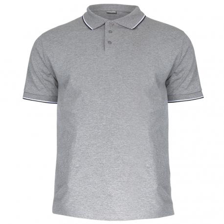Polo shirt men grey 190g cotton Lahti Pro L40311