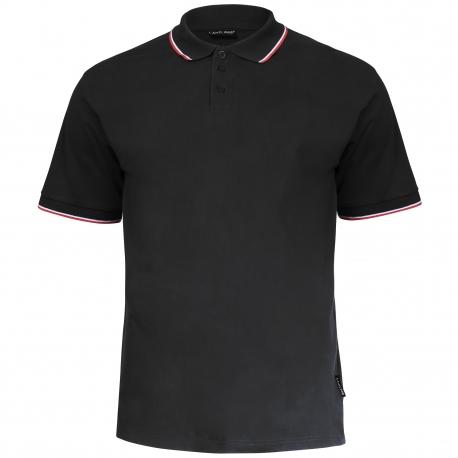 Polo shirt men black 190g cotton Lahti Pro L40310
