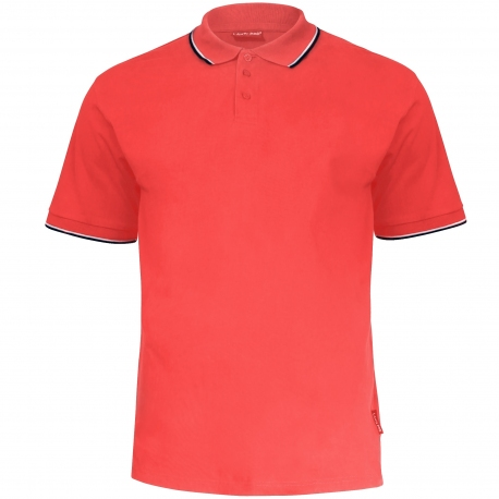 Polo shirt men red 190g cotton Lahti Pro L40313