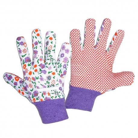 Rękawiczki damskie ochronne jednostronnie nakrapiane Lahti Pro L2405