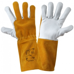 Welding protective gloves made of goat and cow leather Lahti Pro L271910K