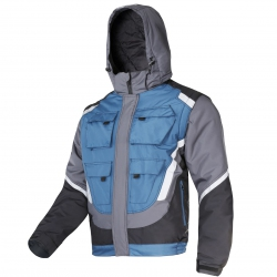 Padded coats wit h detac hable sleeves L40924