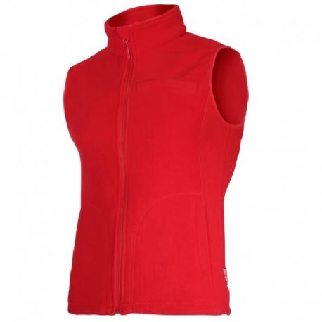 Ladies' fleece vests red Lahti Pro L41312