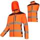 Kurtka softshell ostrzegawcza z odpinanymi rękawami pomarańczowa Lahti Pro L40922