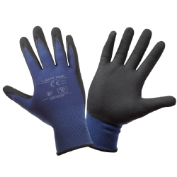 Protective gloves coated with blue nitrile Lahi Pro L2213