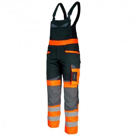 Ogrodniczki ostrzegawcze robocze pomarańczowe Slim Fit Lahti Pro L406011