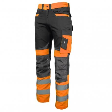 Spodnie ostrzegawcze robocze do pasa pomarańczowe Slim Fit Lahti Pro L40512