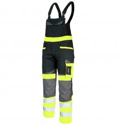 Ogrodniczki ostrzegawcze robocze żółte Slim Fit Lahti Pro L40610