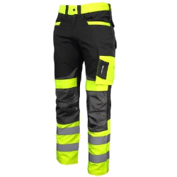 Yellow Lahti Pro L40511 Slim Fit Trousers